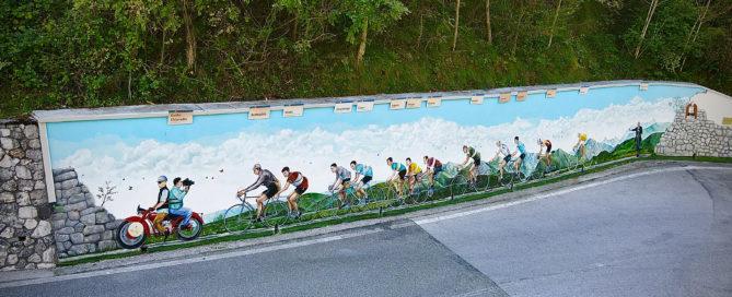 Murale ciclisti